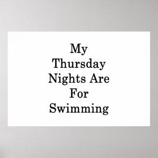 Meine Donnerstags-Nächte sind für das Schwimmen Poster