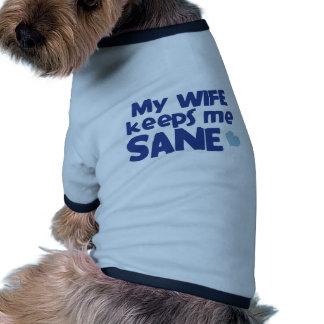 Meine Ehefrau behält mich gesund Ringer Hunde-Shirt