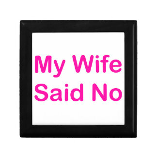 Meine Ehefrau sagte nein in einem heißes Erinnerungskiste