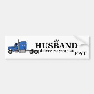 Meine Ehemann-Antriebe - LKW-Fahrer Autoaufkleber