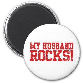 Meine Ehemann-Felsen Runder Magnet 5,7 Cm