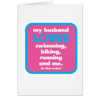 Meine Ehemann-LiebenTriathlons Karte