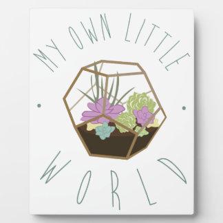 Meine eigene kleine Welt Fotoplatte