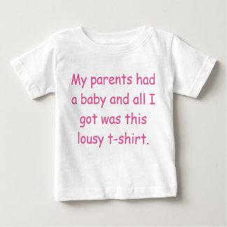 Meine Eltern hatten einen Baby T - Shirt