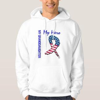 Meine Enkelin mein Held-patriotisches Schmutz-Band Hoodie