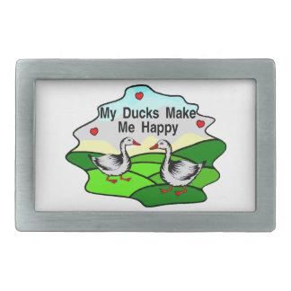 Meine Enten machen mich glücklich Rechteckige Gürtelschnalle