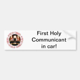 Meine erste heilige Kommunion Autoaufkleber