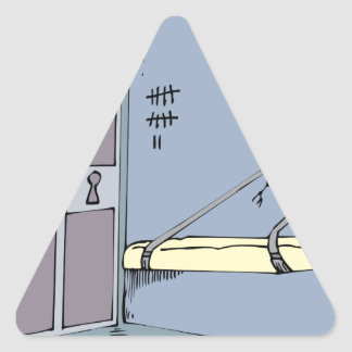 Meine erste Wohnung Dreieckiger Aufkleber