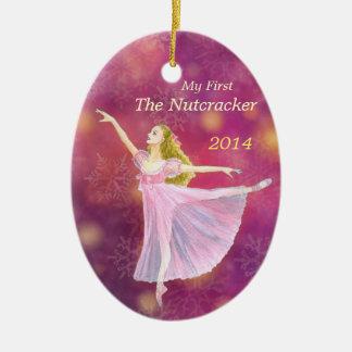 Meine erstes Nussknacker-Ballett-Gedenkverzierung Keramik Ornament