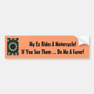 Meine ex Fahrten ein Motorrad! Autoaufkleber