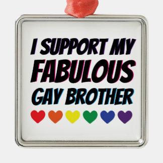 Meine fabelhafte homosexuelle Bruder-Unterstützung Silbernes Ornament