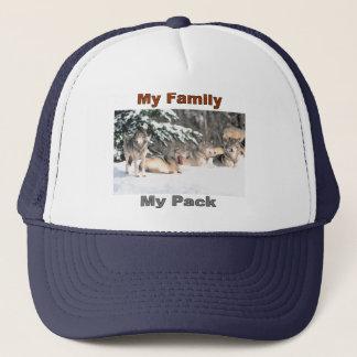 Meine Familie, meine Satz Linie Truckerkappe