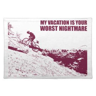 Meine Ferien sind Ihr schlechtester Albtraum Stofftischset
