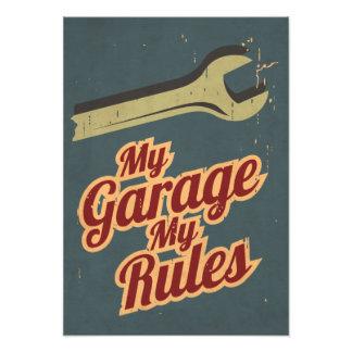 Meine Garage meine Regeln Photographischer Druck