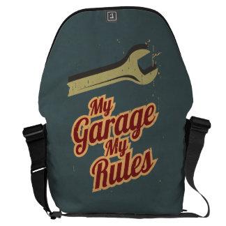 Meine Garage meine Regeln Kurier Tasche