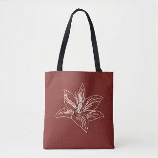 Meine Garten-Lilie, die Burgunder-Rot-Tasche Tasche