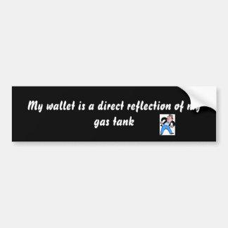 Meine Geldbörse ist eine direkte Reflexion von… Autoaufkleber