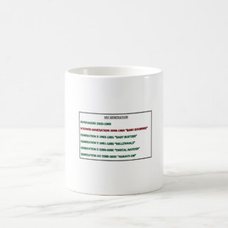 Meine Generation BOOMER-Tasse Kaffeetasse