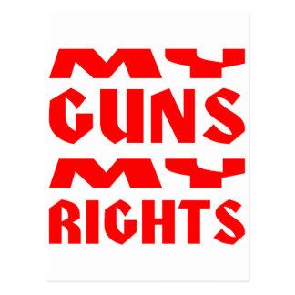 Meine Gewehre meine Rechte Postkarte