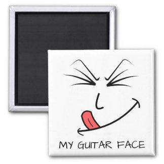 Meine Gitarren-Gesichts-Musik Quadratischer Magnet