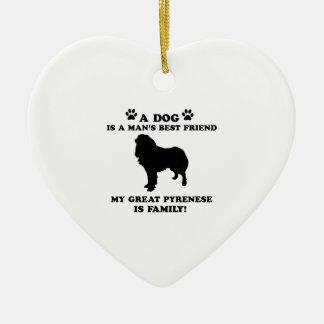 Meine große pyrenese Familie, Ihr Hund gerade ein Keramik Ornament