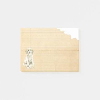 Meine großen Pyrenäen aßen meine Hausaufgaben Post-it Klebezettel