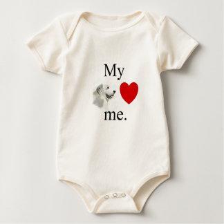 Meine großen pyrenese Lieben ich Baby Strampler