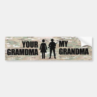 Meine Großmutter ist im Militär Autoaufkleber