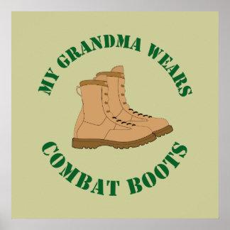 Meine Großmutter trägt Kampf-Stiefel - Plakat