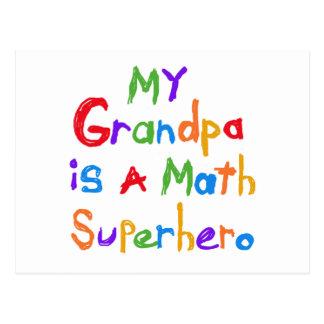 Meine Großvater-Mathesuperhero-T - Shirts und Postkarten