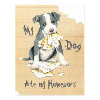 Meine Grube Stier aß meine Hausaufgaben Postkarte