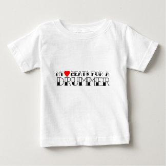 Meine Herz-Schläge für einen Schlagzeuger Baby T-shirt