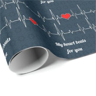 Meine Herzschläge für Sie und ECG Geschenkpapier