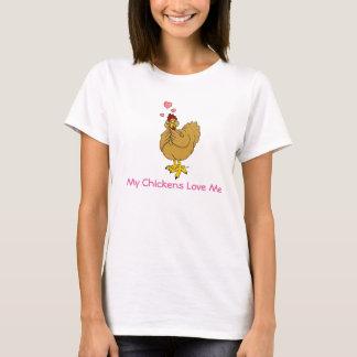 Meine Huhn-Liebe ich - lederfarbene Henne T-Shirt