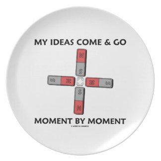 Meine Ideen kommen und gehen Moment durch Magneten Party Teller