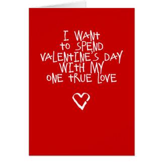 Meine Karte ein wahre Liebelustige Valentines