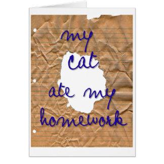 Meine Katze aß meine Hausaufgaben Karte