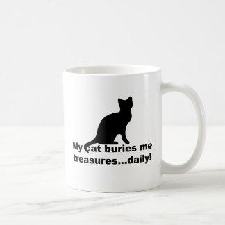 Meine Katze begräbt mich Schatz-tägliche lustige Kaffeetasse
