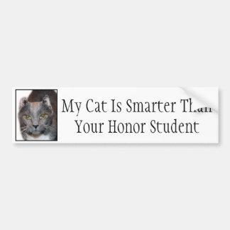 Meine Katze ist intelligenter als Ihr Ehrenstudent Autoaufkleber