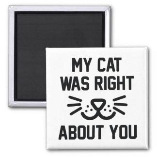 Meine Katze war recht Quadratischer Magnet