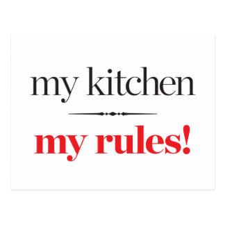 Meine Küche, meine Regeln Postkarte