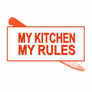 Meine Küche. Meine Regeln. Spaß-Entwurf für Freistehende Fotoskulptur
