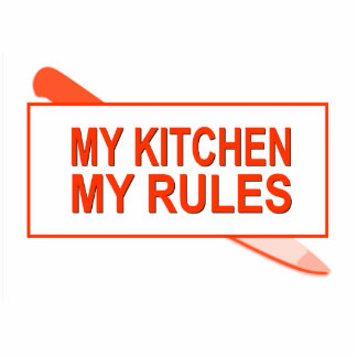 Meine Küche. Meine Regeln. Spaß-Entwurf für Küchen Freistehende Fotoskulptur