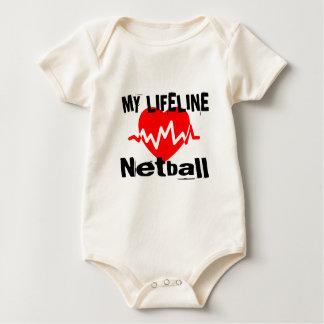 Meine Lebensader Netball trägt Entwürfe zur Schau Baby Strampler