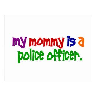 Meine Mama ist ein Polizeibeamte 1 (hauptsächlich) Postkarte