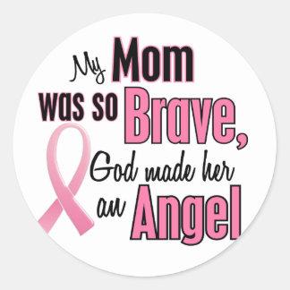 Meine Mamma ist ein Engels-Brustkrebs Runder Aufkleber