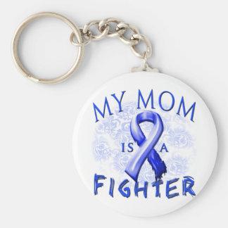 Meine Mamma ist ein Kämpfer-Blau Standard Runder Schlüsselanhänger