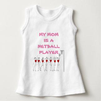 Meine Mamma ist ein Netball-Spieler-Zitat-Baby Kleid