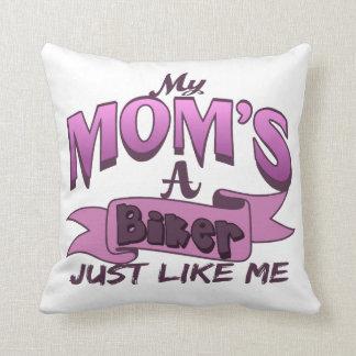 Meine Mamma ist ein Radfahrer gerade wie ich rosa Kissen