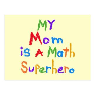 Meine Mamma-Mathesuperhero-T - Shirts und Postkarte